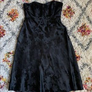 Banana Republic Silk Black Strapless Dress